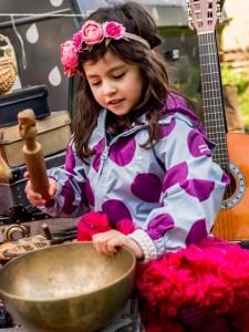 NAVONKA.sk ľahká nepremokavá detská bunda fialová bodky na leto