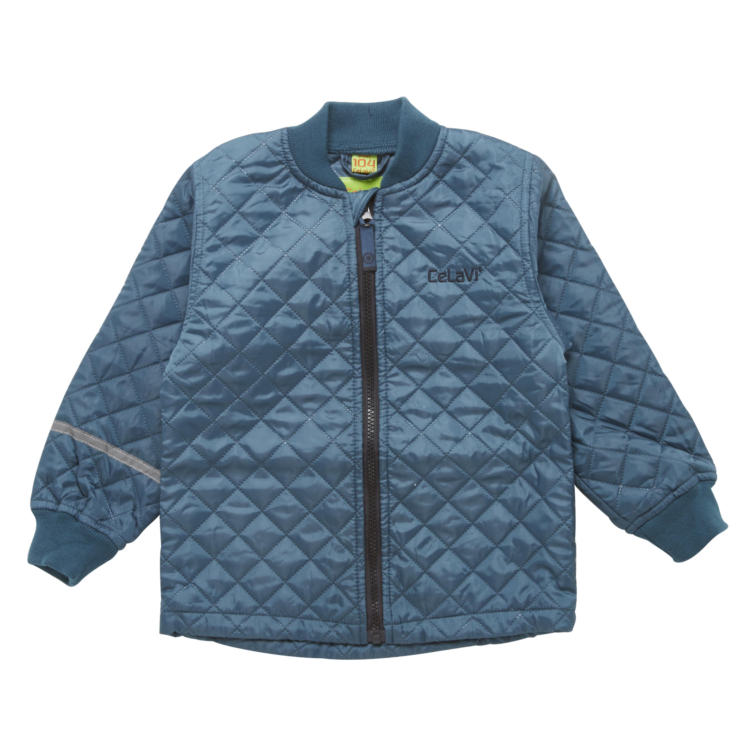 Termo detská prešívané bunda modrá oceán Celavi