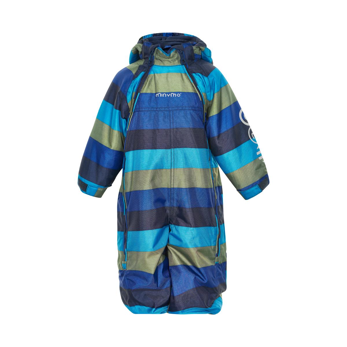 Zimny overal detsky, kombineza tmavo modra pasik s dvomi zipsami Minimo_160212_7350